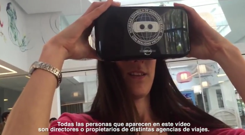 Los Agentes de Viajes prueban las Gafas de Realidad Virtual